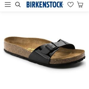 Black One Strap Birkenstocks